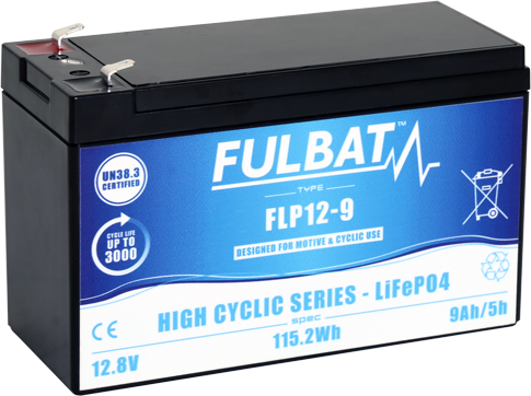 Fulbat_FLP12-9_HighCyclic_LiFePO4_medical_mobility-electrical-vehicle