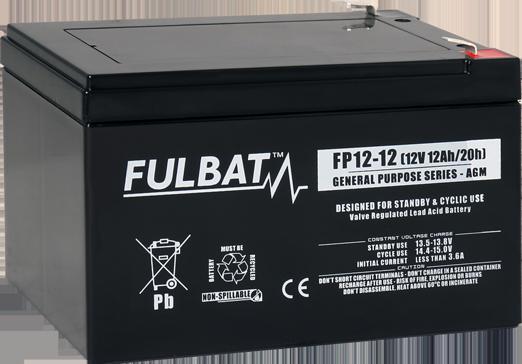 Fulbat_FP12-12_GeneralPurpose_AGM_alarm_security_UPS_medical