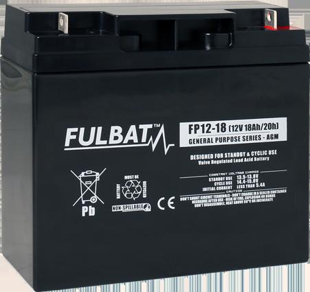 Fulbat_FP12-18_GeneralPurpose_AGM_alarm_security_medical_UPS