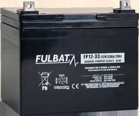 Fulbat_FP12-33_GeneralPurpose_AGM_alarm_security_medical_UPS