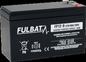 Fulbat_FP12-9_GeneralPurpose_AGM_UPS_alarm_security_medical