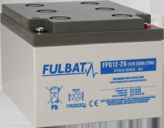 Fulbat_FPG12-26_Cyclic_GEL_mobility_medical-renewable-energy_leisure_marine