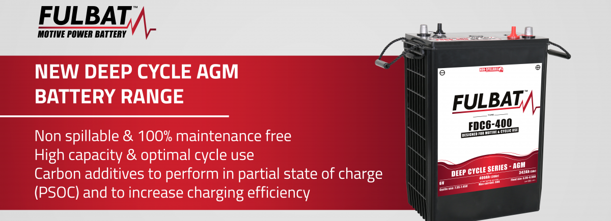 NEW DEEP CYCLE AGM CARBON BATTERY RANGE